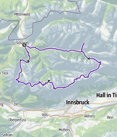 Karte / Karwendel 29.08.2015