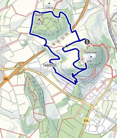 Karte / Hegauer Kegelspiel: Hohentwieler