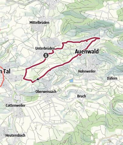 Karte / Wassertretbecken Auenwald-Unterbrüden