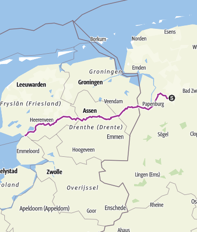 Karte / Tourenplanung am 4. September 2015