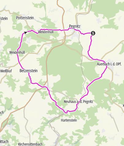 Karte / Um den Veldensteiner Forst