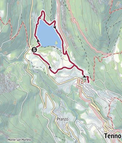 Cartina / Dal lago di Tenno a Canale, una passeggiata nel verde