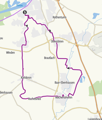 Karte / 8. September 2015 Ingoradlertour Ingolstadt - Reichertshofen