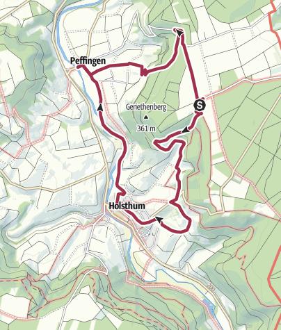 Karte / Holsthumerberg Holsthum Peffingen
