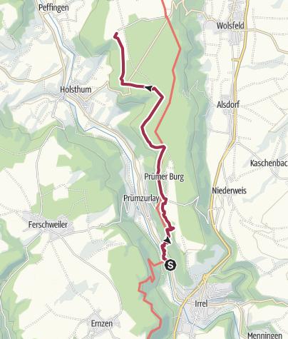 Karte / Irreler Wasserfälle zur 'Gadewertschaft' auf dem Holsthumerberg