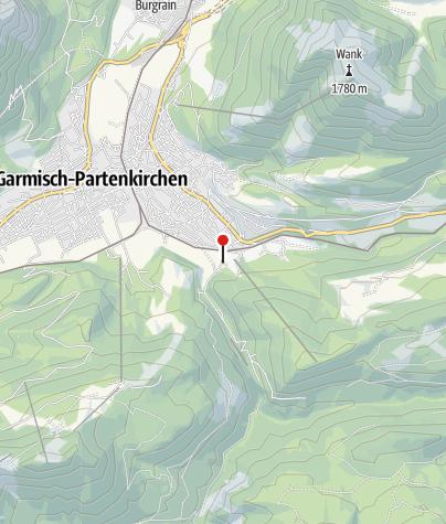 Karte / Steig vom Zugspitzplatt zum Zugspitzgipfel: noch Schneereste