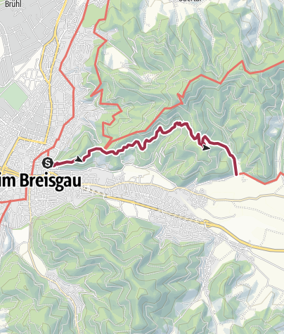 Karte / Querweg Freiburg Bodensee: Freiburg - Ebnet
