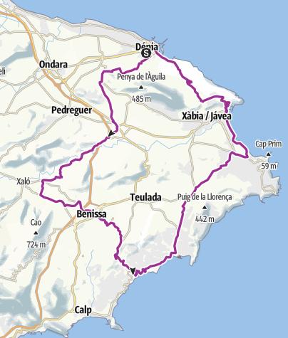 Karte / Moraira