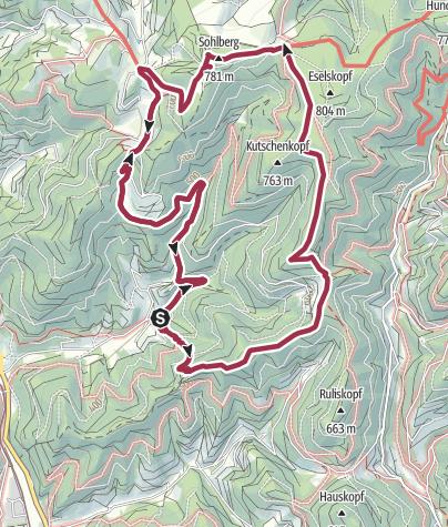 Karte / Sulzbachtal Tourenplanung am 17. Juli 2016