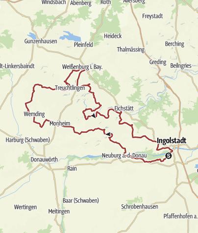Karte / 17. September 2015 Rollertour durchs Altmühltal