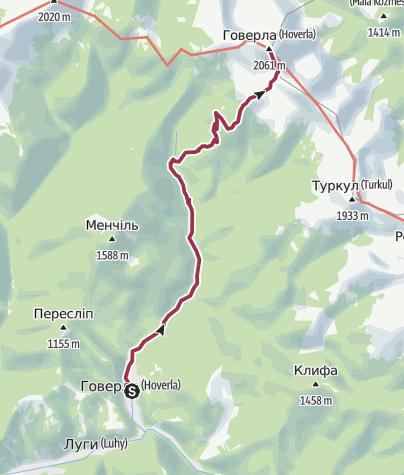 Map / Hoverla / Hóvár