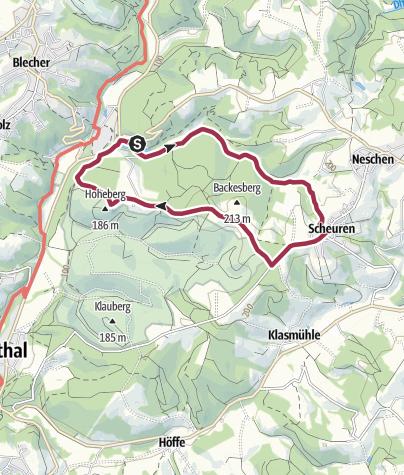 Karte / Altenberger Fischteich - Scheuren - Wildpark