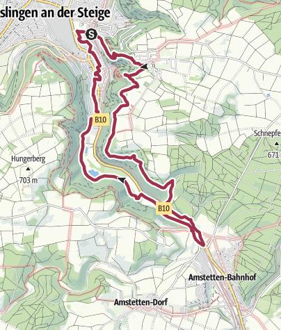 Karte / Erlebnispfad Geislinger Steige