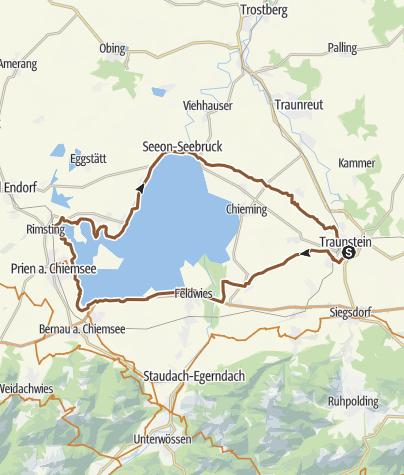 Karte / Chiemseerunde von Traunstein