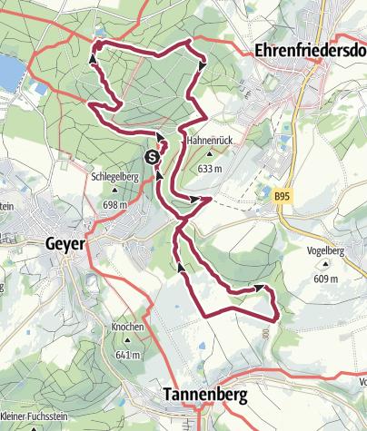 Karte / Wandern im Geyerschen Wald