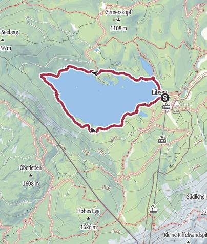 Karte / Zugspitzland: Rund um den Eibsee