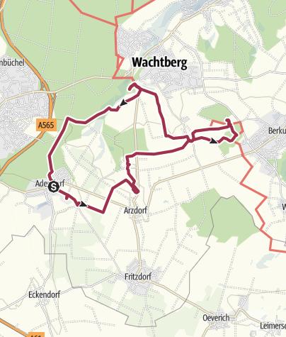 Karte / NPR - Feuerroute - 3. Etappe verändert - Adendorf - Holzem - Wachtberg 14,6 km
