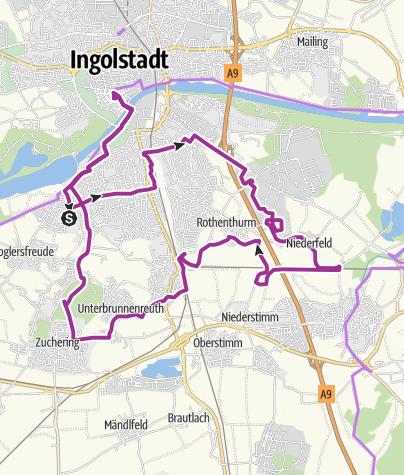 Karte / 6. Oktober 2015 Ingoradler Oktoberfest radeln   Rund um Ingolstadt