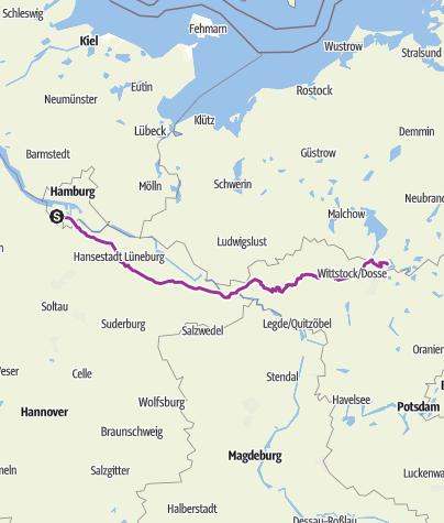 Karte / Neugraben <-> Schwarz