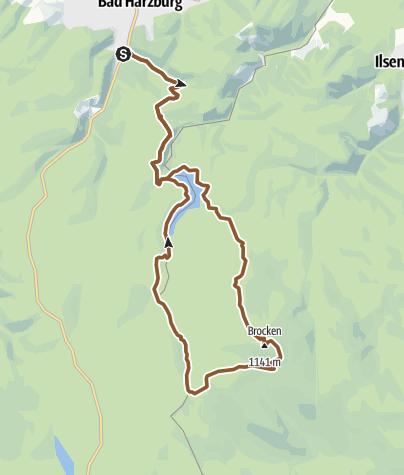 Mapa / Bad Harzburg - Brocken