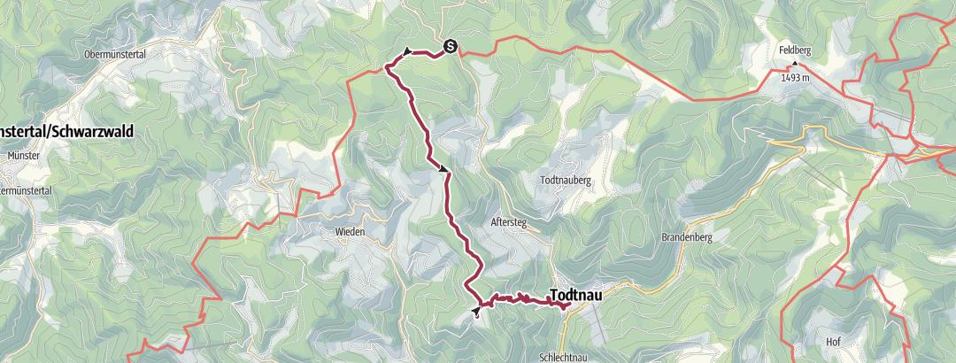 Hartă / Notschrei - Knöpflesbrunnen - Todtnau