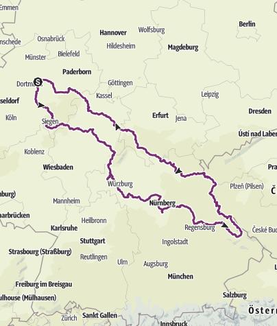 Karte / Tourenplanung am 11. Oktober 2015