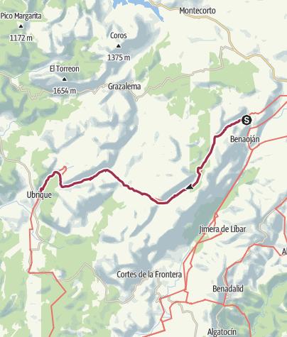 Karte / GR 7 Etappe Montejaque-Ubrique