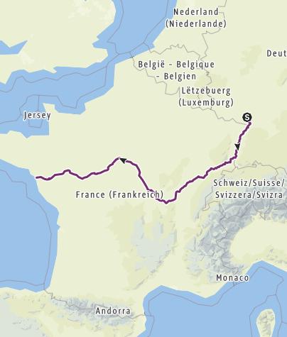 Karte / Rhein - EuroVelo6