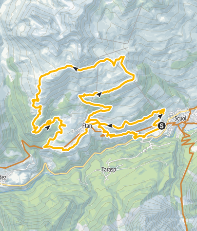 Map / Alp Clünas Rundtour