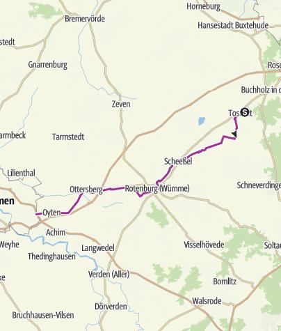 Map / Cooperide: Tostedt - Bremen