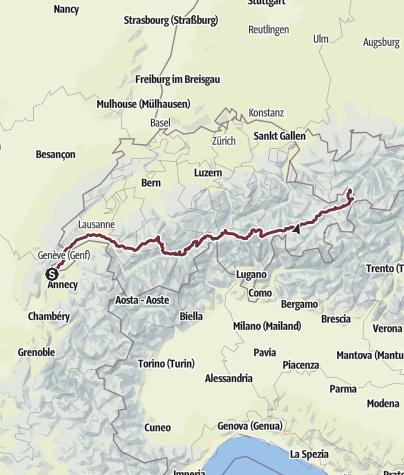 Karte / Tourenplanung am 27. Oktober 2015