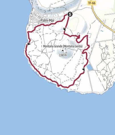 Karte / 28. Oktober 2015 Mittwochswanderung Palm Mar Runde zum Leuchtturm