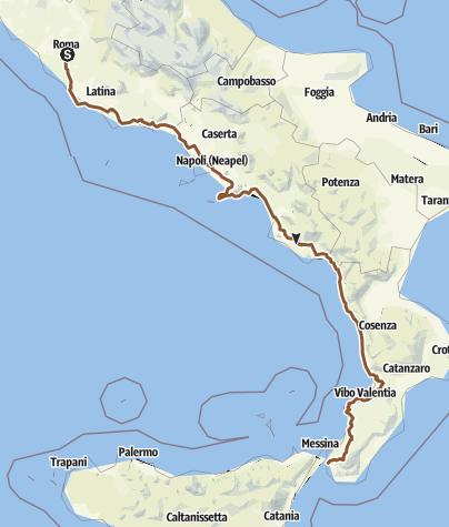 Karte / Rom-Calabria