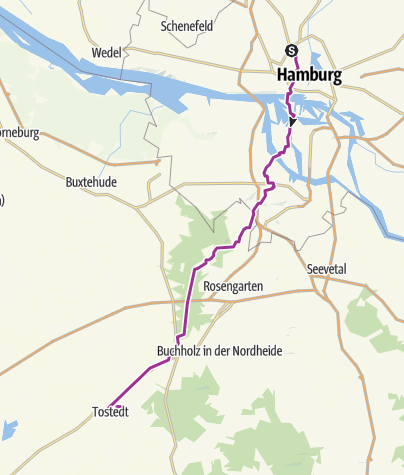 Map / Cooperide: Hamburg - Tostedt