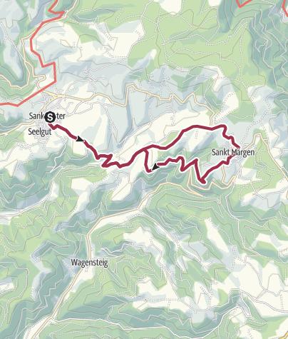 Karte / Von St. Peter nach St. Märgen und zurück