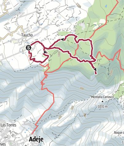 Karte / 4. November 2015 La Quinta Rundtour oberhalb Taucho - Adeje
