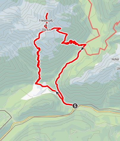Karte / Rundtour zu Friederspitz und Frieder