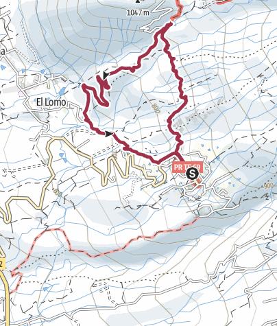 Karte / 9. November 2015 Rundtour ab Vera de Erques Teneriffa Süd/West