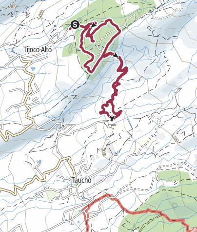 Karte /  11. November 2015 Wanderung oberhalb Tijoco Alto durch den Barranco de Ye