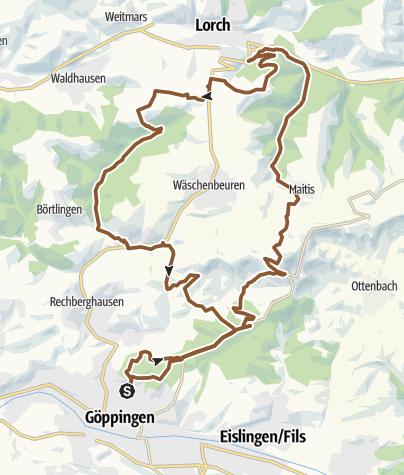 Karte / MTB rund um Wäschenbeuren