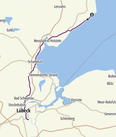 Map / Cooperide: Kellenhusen - Lübeck