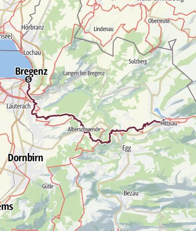 Karte / E5-Var-1-Bregenz- Lingenau/Hittisau