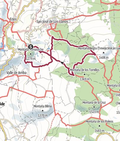 Karte / 16. November 2015 Teneriffa Süd/West Wanderung zum Montaña Negra oberhalb Santiago del Teide