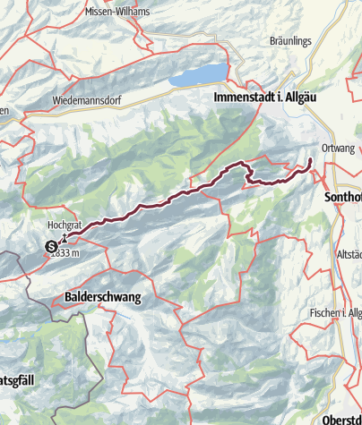Karte / E5-Var-3-Staufner Haus-Gunzesried