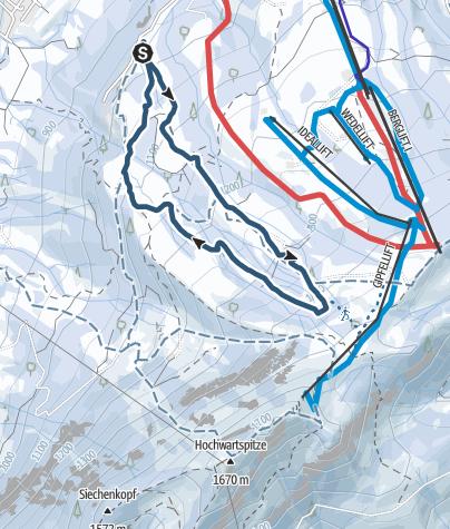 Karte / Rennstrecke Grünten-Nightrace