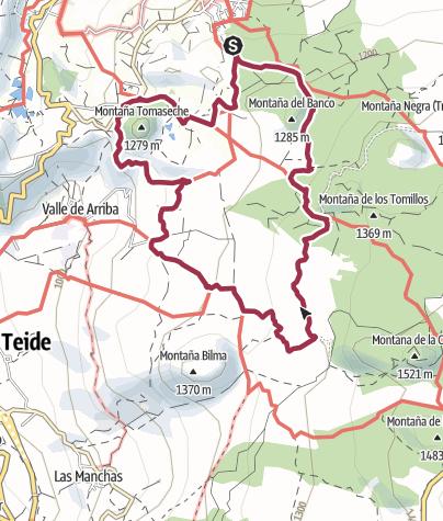 Karte / 18. November 2015 Rundtour oberhalb Santiago del Teide und San Jose de Los Llanos