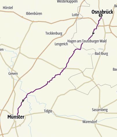 Map / Cooperide: Osnabrück - Münster