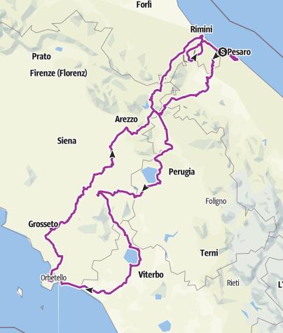 Karte / Toscanarundfahrt - Oktober 2015