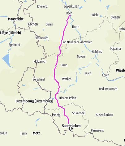 Karte / Saarland-Eifel