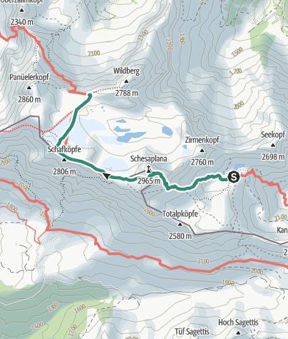 Karte / Wanderwoche 2016 - Tag 5